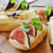オープンサンドイッチの画像