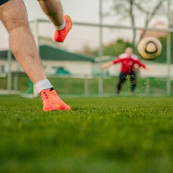 サッカープレーヤーの画像